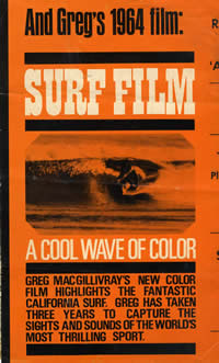 Surf Movie.  A Cool Wave of Color Surf Movie Poster from 1964 by Greg Macgillivary