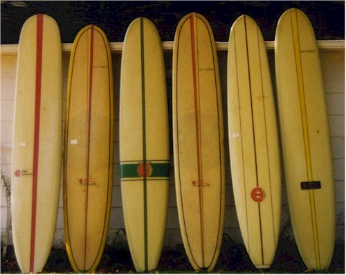 Beautiful Batch of Con Surfboards from the 1960's all original condition