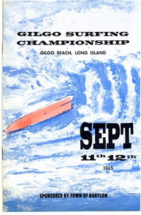 Gilgo Beach Surfing Championships 1965 sponsored by the Town Of Babylon