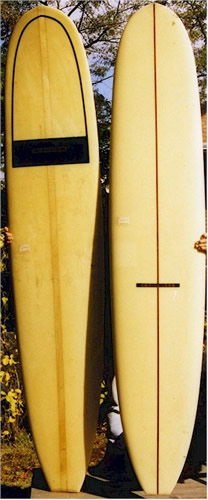 Cambell Surfboards from the 1960's in the LI Surfing Museum