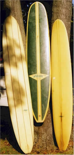 Hobie Surfboards including a beautiful triple stinger in original condtion from the 60's